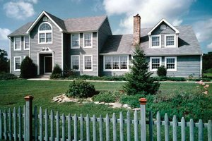 House Plan Design - Colonial Exterior - Front Elevation Plan #314-214