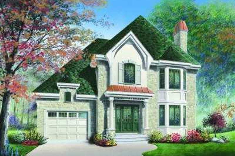 European Exterior - Front Elevation Plan #23-357 - Houseplans.com