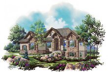 Home Plan - Traditional Exterior - Front Elevation Plan #5-287
