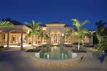 Home Plan Design - Mediterranean Exterior - Rear Elevation Plan #930-398