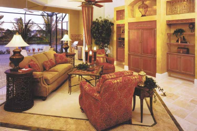 Mediterranean Interior - Family Room Plan #1017-3 - Houseplans.com