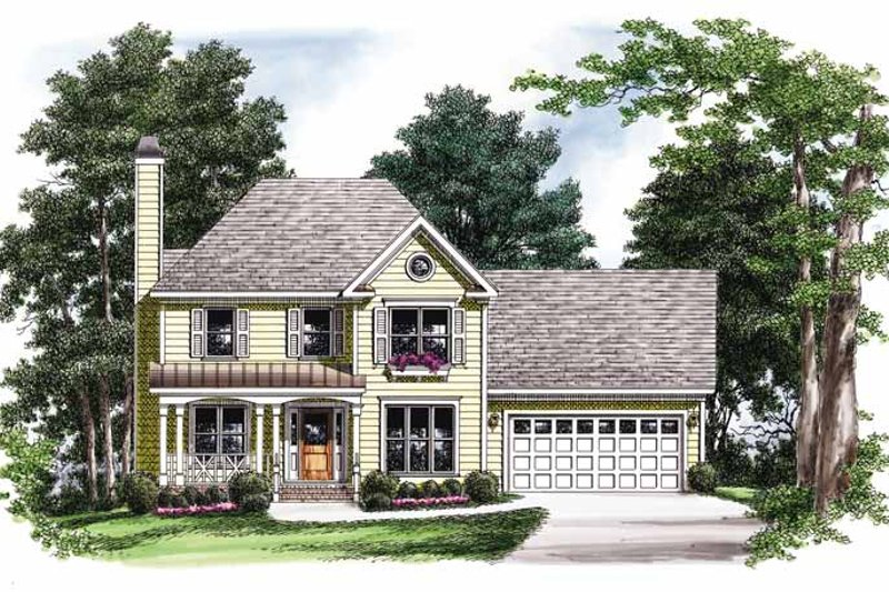Country Exterior - Front Elevation Plan #927-748