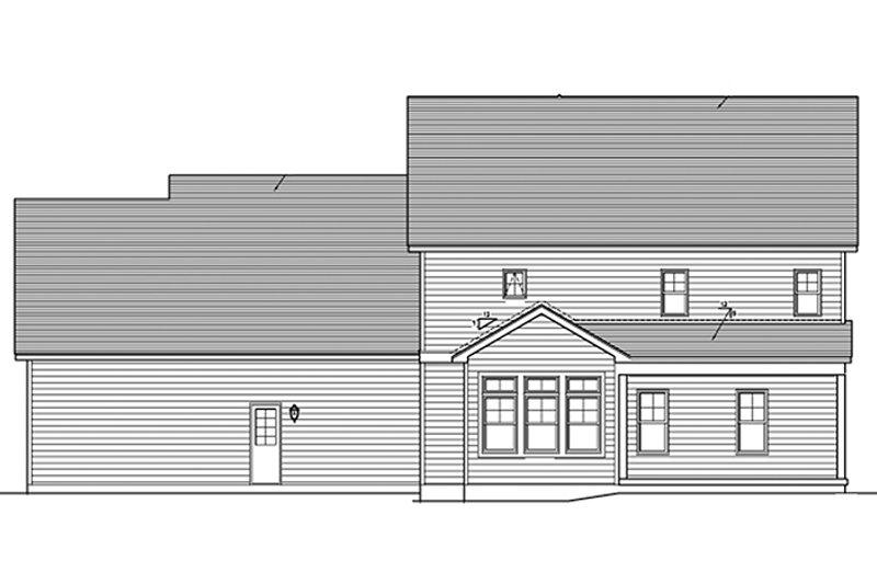 Traditional Exterior - Rear Elevation Plan #1010-128 - Houseplans.com