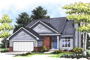 Traditional Style House Plan - 4 Beds 2.5 Baths 1683 Sq/Ft Plan #70-170 Exterior - Front Elevation