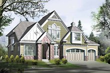 Architectural House Design - Country Exterior - Front Elevation Plan #132-416