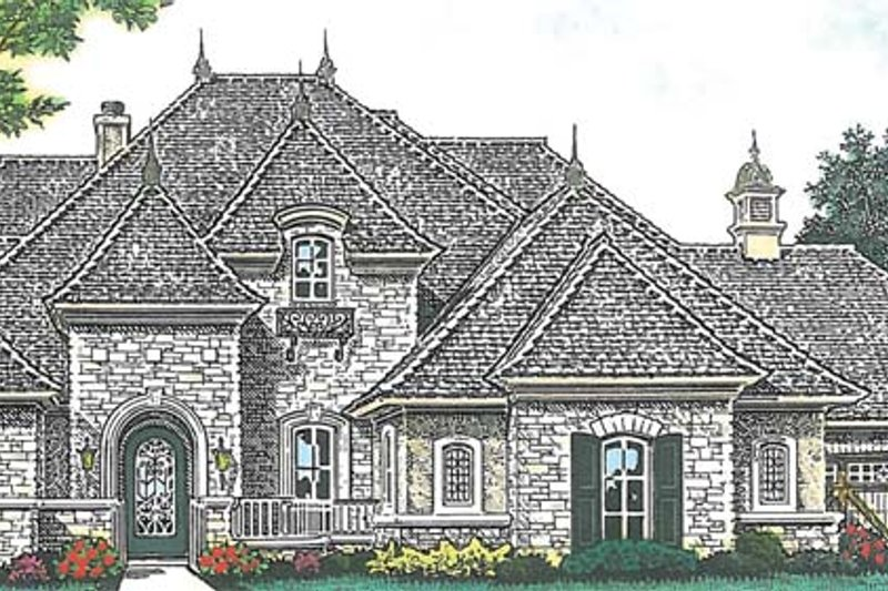 European Exterior - Front Elevation Plan #310-1276