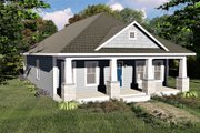 Craftsman Style House Plan - 3 Beds 2 Baths 1587 Sq/Ft Plan #44-232 Exterior - Front Elevation