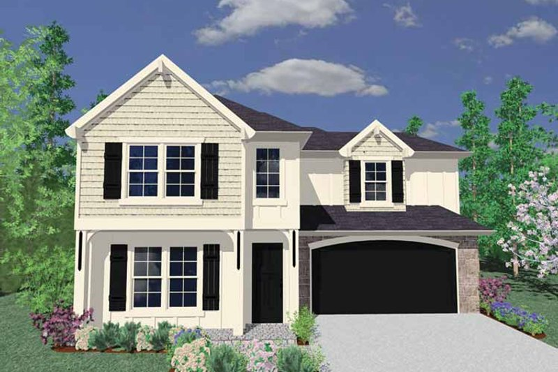 Country Exterior - Front Elevation Plan #509-268 - Houseplans.com