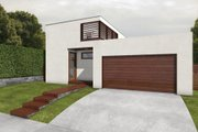 Modern Style House Plan - 2 Beds 2 Baths 2032 Sq/Ft Plan #497-22 Exterior - Front Elevation