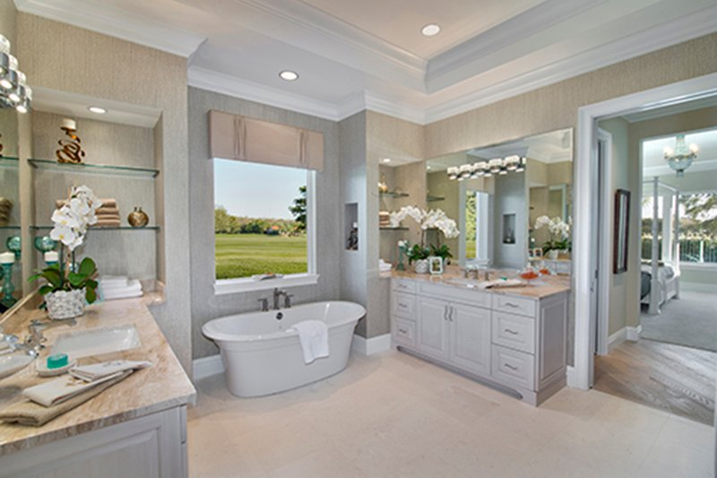 Mediterranean Interior - Master Bathroom Plan #1017-156 - Houseplans.com