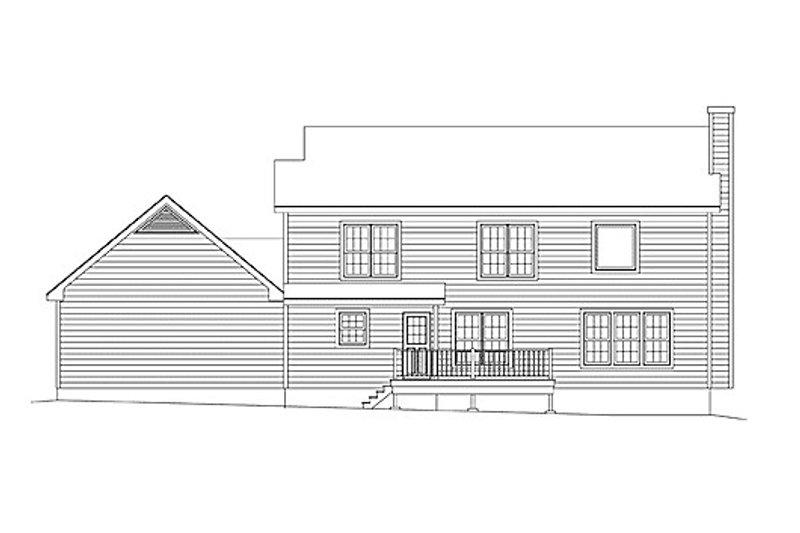 Classical Exterior - Rear Elevation Plan #57-106 - Houseplans.com