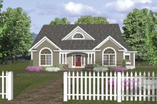Dream House Plan - Traditional Exterior - Front Elevation Plan #56-667