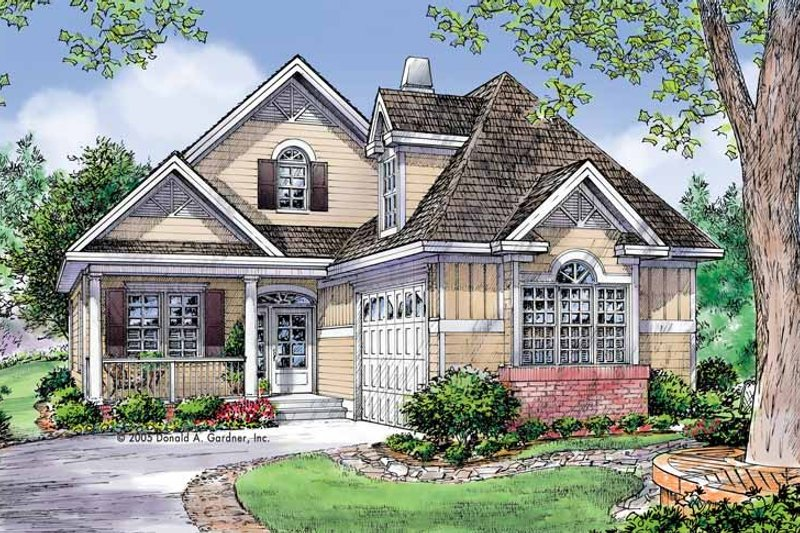 Architectural House Design - Traditional Exterior - Front Elevation Plan #929-785
