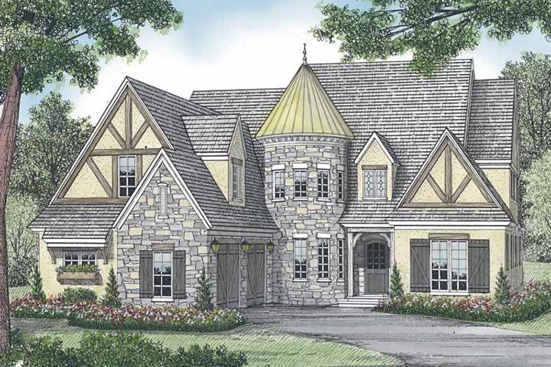 European Exterior - Front Elevation Plan #453-585 - Houseplans.com