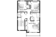 Contemporary Style House Plan - 3 Beds 2 Baths 1883 Sq/Ft Plan #23-2584 Floor Plan - Upper Floor
