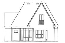House Plan Design - Colonial Exterior - Other Elevation Plan #417-812