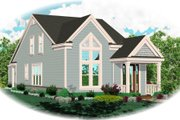 Cottage Style House Plan - 3 Beds 2.5 Baths 1548 Sq/Ft Plan #81-13858 Exterior - Front Elevation