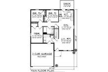 Ranch Floor Plan - Main Floor Plan Plan #70-1016