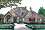 European Style House Plan - 4 Beds 3.5 Baths 3012 Sq/Ft Plan #310-494 Exterior - Front Elevation