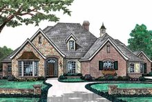 Dream House Plan - European Exterior - Front Elevation Plan #310-494
