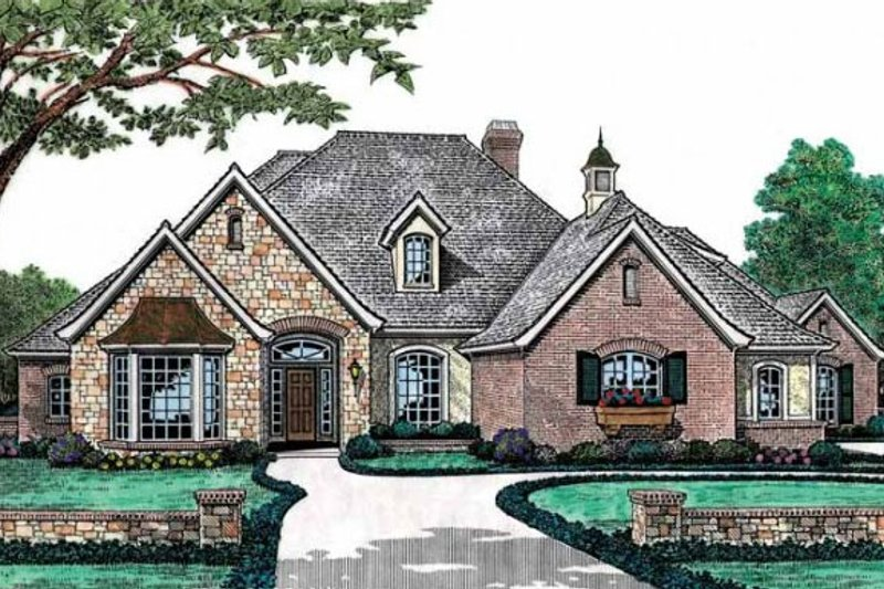 Home Plan - European Exterior - Front Elevation Plan #310-494