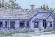 House Design - Traditional Exterior - Front Elevation Plan #60-299