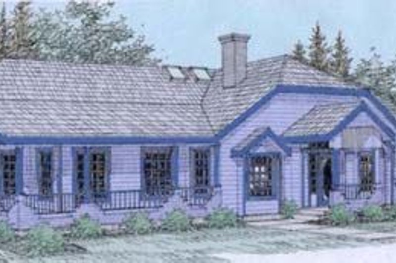 Traditional Exterior - Front Elevation Plan #60-299 - Houseplans.com
