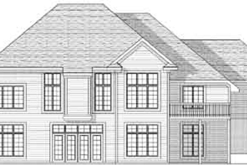 European Exterior - Rear Elevation Plan #70-810 - Houseplans.com