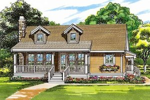 Country Exterior - Front Elevation Plan #47-379