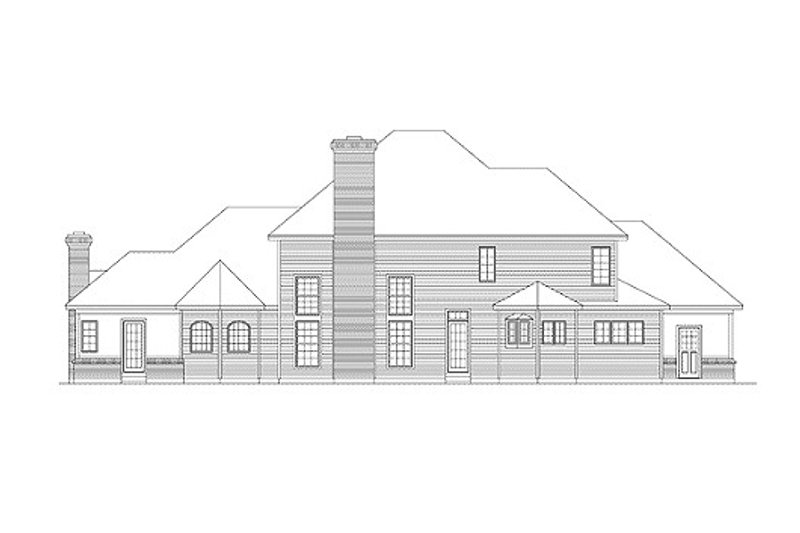 European Exterior - Rear Elevation Plan #57-110 - Houseplans.com