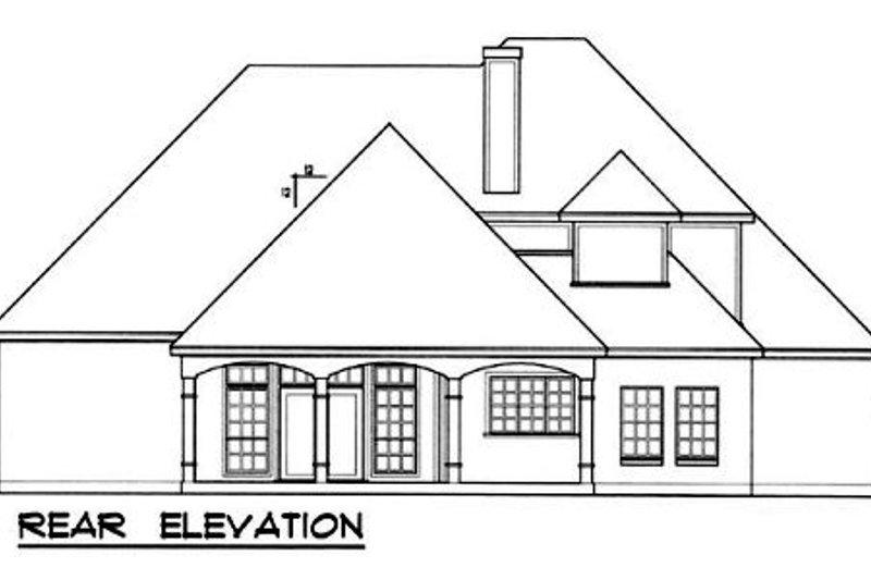 European Exterior - Rear Elevation Plan #40-343 - Houseplans.com