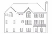 Home Plan - European Exterior - Rear Elevation Plan #419-136