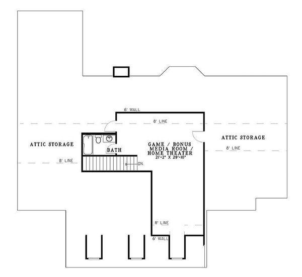 Country Floor Plan - Upper Floor Plan Plan #17-532