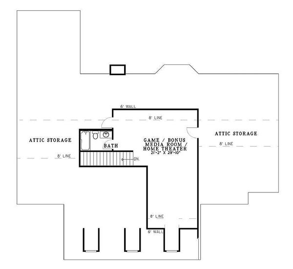 Country Floor Plan - Upper Floor Plan Plan #17-532