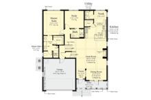 Traditional Floor Plan - Main Floor Plan Plan #930-498