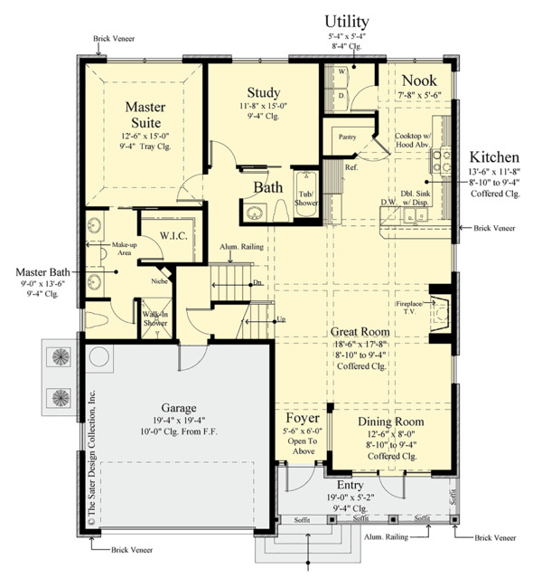Traditional Floor Plan - Main Floor Plan Plan #930-498