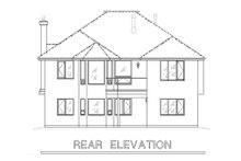 Traditional Exterior - Rear Elevation Plan #18-1013