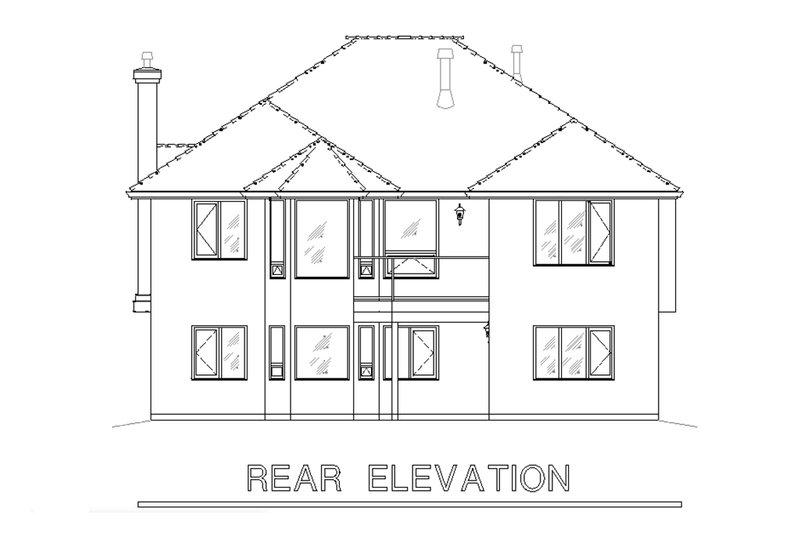 Traditional Exterior - Rear Elevation Plan #18-1013 - Houseplans.com