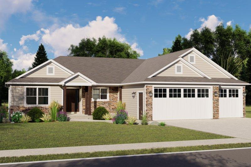 House Plan Design - Craftsman Exterior - Front Elevation Plan #1064-62