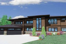 Prairie Exterior - Front Elevation Plan #509-418