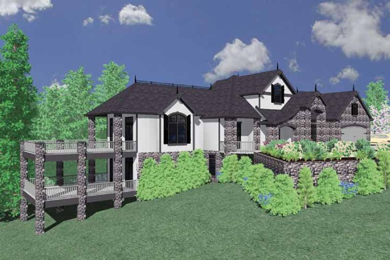 European Exterior - Front Elevation Plan #509-395 - Houseplans.com