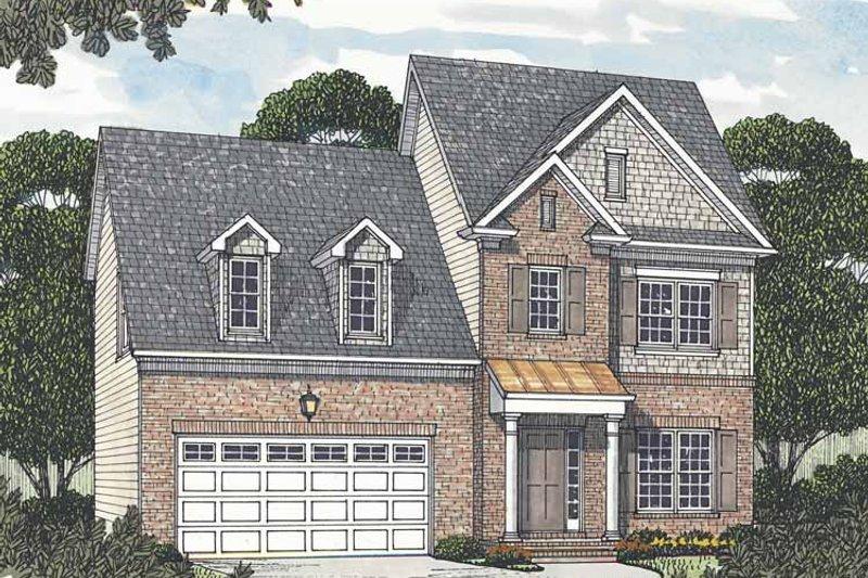 Colonial Exterior - Front Elevation Plan #453-506 - Houseplans.com