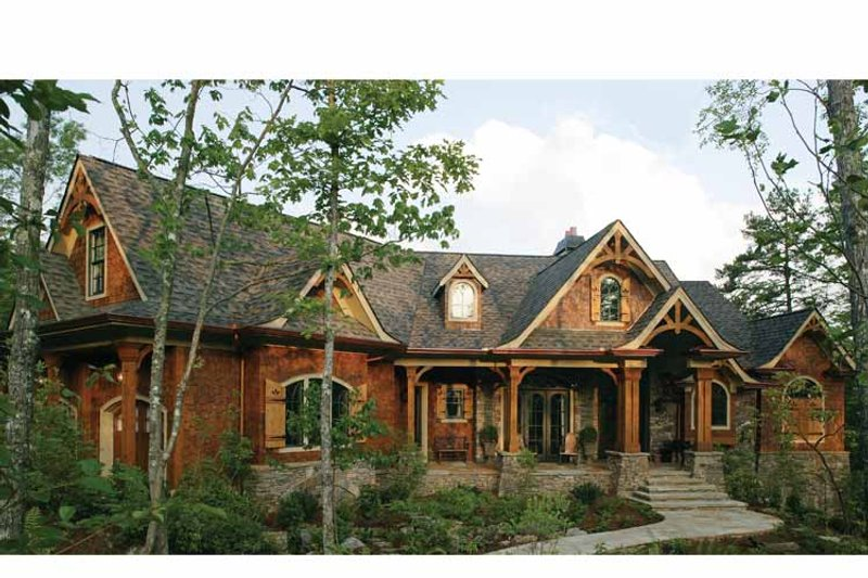 Craftsman Exterior - Front Elevation Plan #54-364 - Houseplans.com