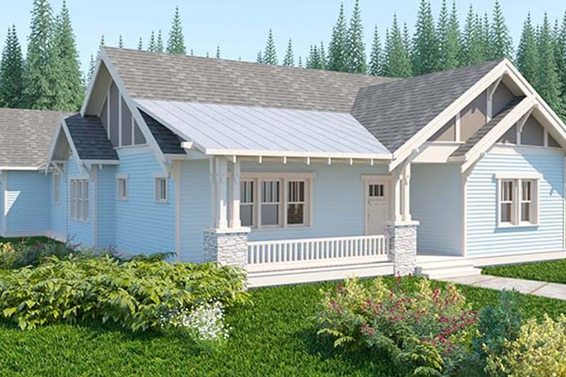 Craftsman Exterior - Front Elevation Plan #895-68
