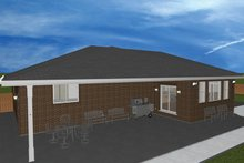 Ranch Exterior - Rear Elevation Plan #1060-27