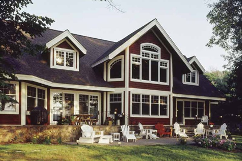 Country Exterior - Rear Elevation Plan #320-993 - Houseplans.com