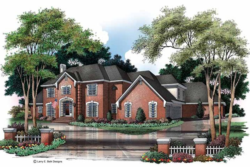 Colonial Exterior - Front Elevation Plan #952-75