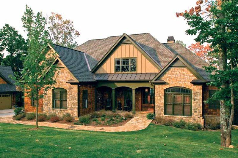 Country Exterior - Front Elevation Plan #927-295