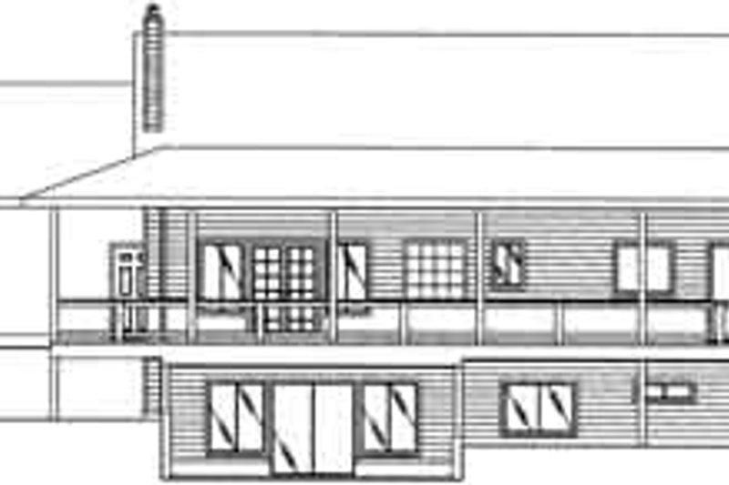 Traditional Exterior - Rear Elevation Plan #117-322 - Houseplans.com