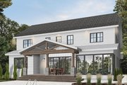 Farmhouse Style House Plan - 5 Beds 4.5 Baths 3497 Sq/Ft Plan #23-2686 Exterior - Rear Elevation